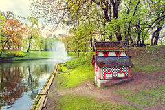 Central park in Riga city by spring, Latvia Royalty Free Stock Images