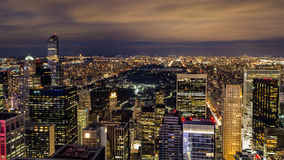 Central Park from Rockefeller Center Royalty Free Stock Photography