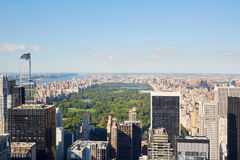 Central Park, roof top view in New York in a sunny day Royalty Free Stock Photo