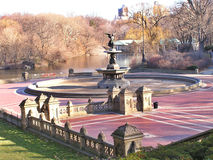 Central park scenery 3. Angel'  fountains of Central park in New York Stock Image