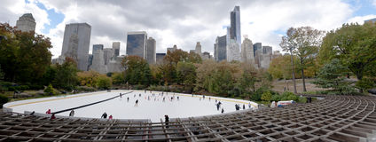 Central Park Skate rink New York City Royalty Free Stock Image