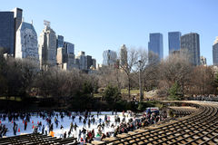 Central Park skating rink Royalty Free Stock Photo