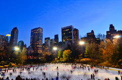 Central Park Skating Wollman Rink Royalty Free Stock Photos