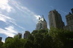 Central Park Skyline. Central Park NY with cloud and blue sky Stock Photos