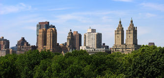 Central Park Skyline. The skyline across Central Park in New York CIty Royalty Free Stock Photo