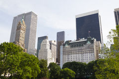 Central Park And Skyscrapers Royalty Free Stock Photography