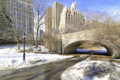 Central Park in the snow, New York Royalty Free Stock Image