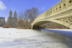 Central Park in the snow, New York Royalty Free Stock Images