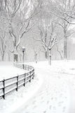 Central Park in the snow after snowstorm, New York City Royalty Free Stock Images