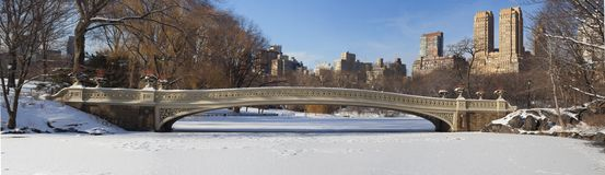 Central Park after snow storm Royalty Free Stock Images