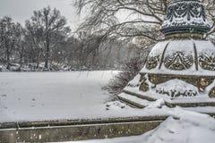 Central Park after snow storm Stock Photos