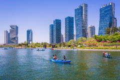 Central park in Songdo District. Incheon, South Korea - May 05, 2015: Central park in Songdo International Business District, Incheon South Korea Stock Images