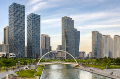 Central Park in Songdo International Business District.Incheon,. Korea Stock Image