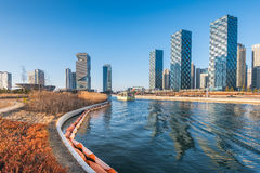 Central Park in Songdo International Business District , Incheon. South Korea stock images