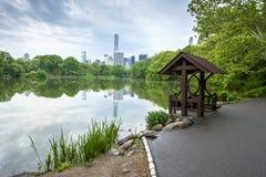 Central Park-Sonnenuntergang in New York City Lizenzfreies Stockbild