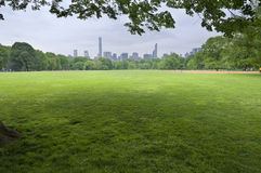 Central Park-Sonnenuntergang in New York City Lizenzfreie Stockfotos