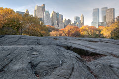 Central Park South In Autumn Royalty Free Stock Image
