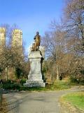 Central park statue Stock Photo