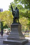 Central Park statue of Columbus, by Spanish sculptor Jeronimo Sunol. stock photos