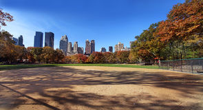 Central park at sunny day, New York City. Royalty Free Stock Images