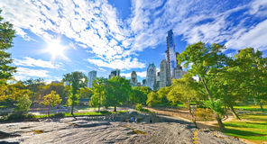 Central Park in a sunny day in New York City. Royalty Free Stock Photo