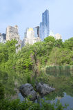 Central Park Sunset in New York City Royalty Free Stock Images
