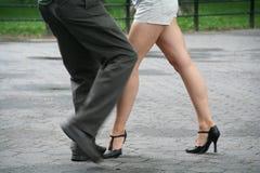 Central Park tango Arkivfoton