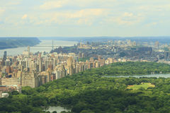 Central Park and Upper West Side View Stock Photos