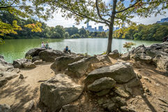 Central park. View on Manhattan from Central Park Royalty Free Stock Photos