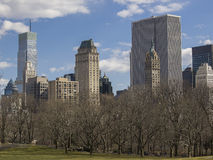 Central Park. View of Manhattan from Central Park, New York City Stock Image