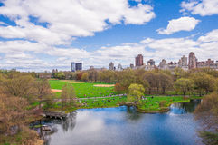 Central Park view in New York during Spring royalty free stock images