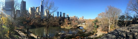Central Park view, NYC, USA. Royalty Free Stock Images