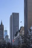 Central Park view to the highrise buildings Royalty Free Stock Images