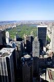 Central Park visto dal tetto di uno di più alta costruzione di New York Fotografie Stock