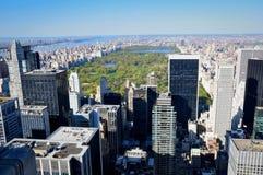 Central Park visto dal tetto di uno di più alta costruzione di New York Fotografia Stock Libera da Diritti
