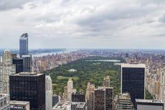 Central Park-Vogelperspektive in Manhattan, New York City, USA Stockfotografie