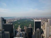 Central Park vom Rockefeller Stockfoto