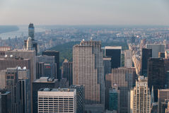 Central Park von oben lizenzfreie stockbilder