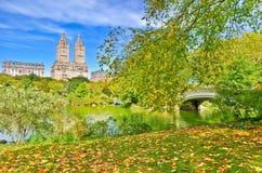 Central Park w jesieni w Nowy Jork Obraz Stock