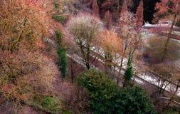 Central Park w Luksemburg zdjęcie stock