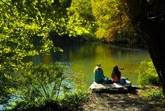 Central Park w w połowie grodzkim Manhatan Fotografia Royalty Free