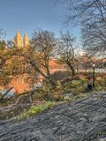 Central Park, Wagner Cove Stockbild