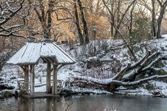 Central Park, Wagner Cove immagine stock