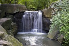 Central Park Waterfall Royalty Free Stock Photo