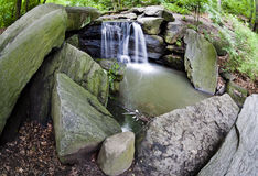 Central Park, waterfall Royalty Free Stock Photo