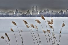 Central Park West In Winter Stock Photos