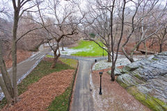 Central Park in Winter Stock Photography