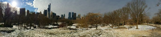 Central Park. Winter New York City Royalty Free Stock Photo