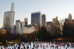 Central Park in the winter, New York City Stock Photos