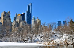 Central Park in the winter, NYC Stock Photography